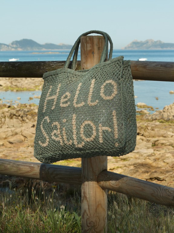 Bolso Hello Sailor! ash green and natural