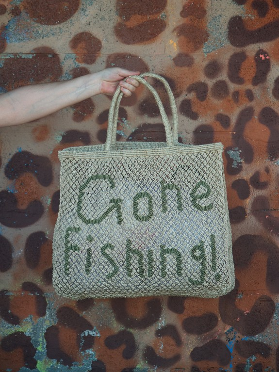 Bolso Gone Fishing! natural and military