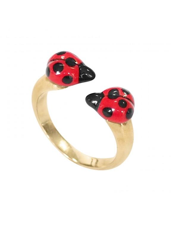 Double Ladybug ring