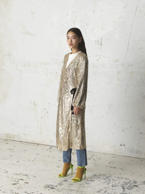 Everlee gold dress