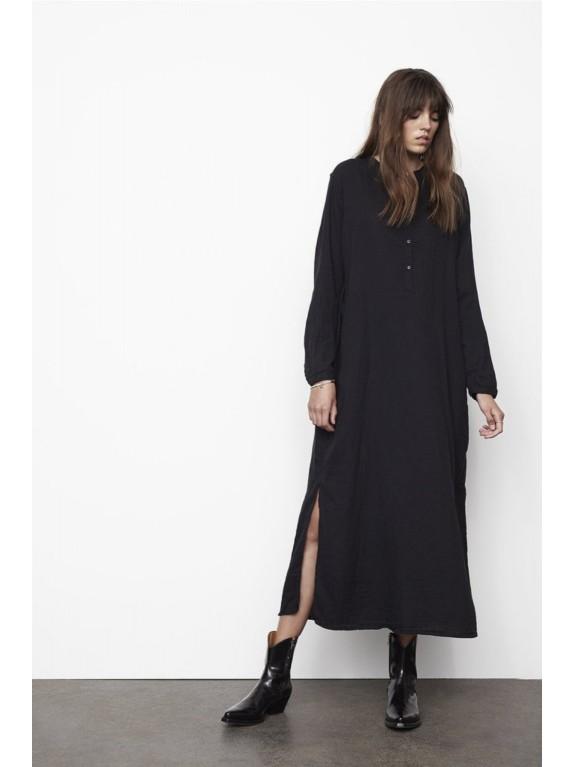 Vestido largo Adelie negro caviar