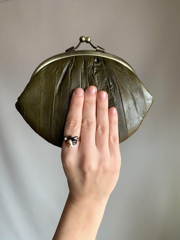Cartera Granny verde oliva