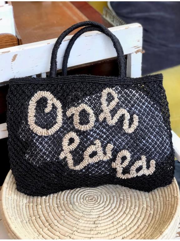 Ooh la la small bag black and natural