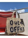 Out of Office large bag natural and indigo