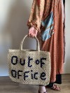 Bolso Out of Office natural y azul pequeño