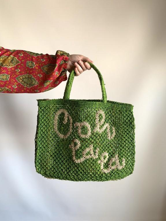 Bolso Ooh la la verde y natural pequeño