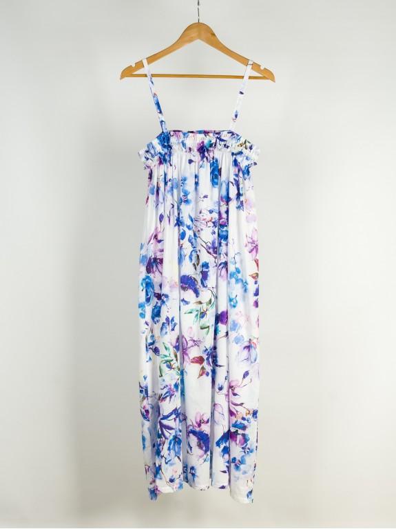 Flower strap dress