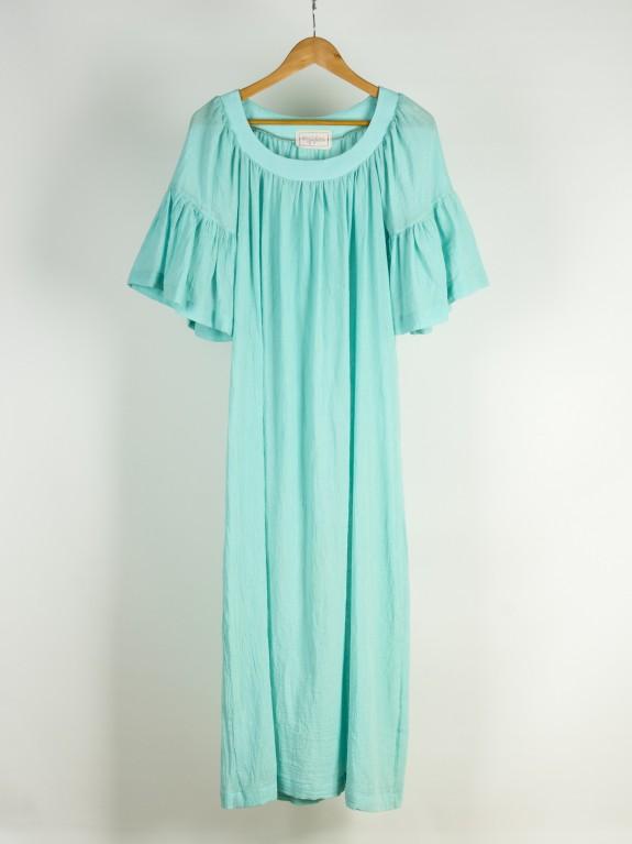 Vestido de gasa turquesa