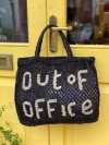 Out of Office large bag black and natural