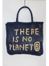 There is no Planet B large bag indigo and natural