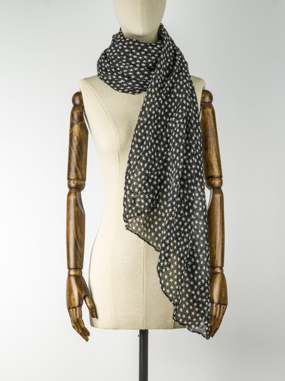 Foulard Fine Summer Star Black