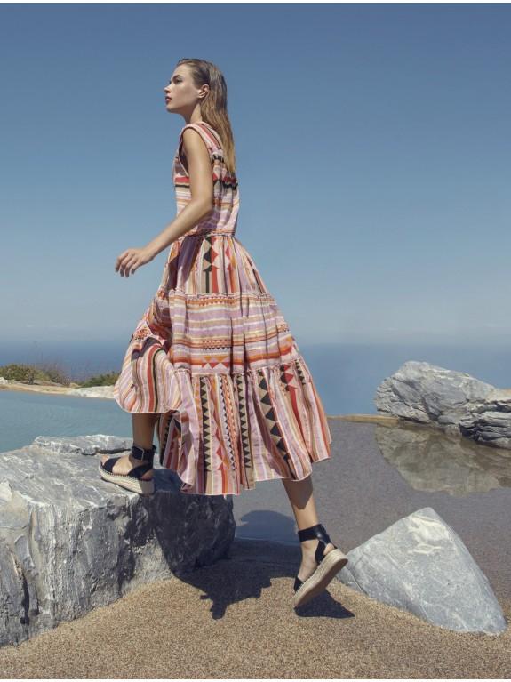Vestido Multicolor Lila