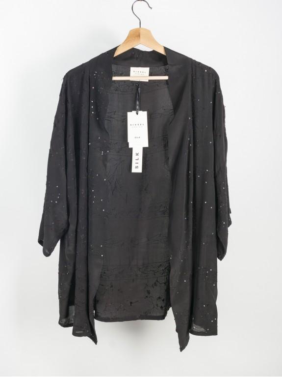 Kimono Lotus Noir Silk Nº 1