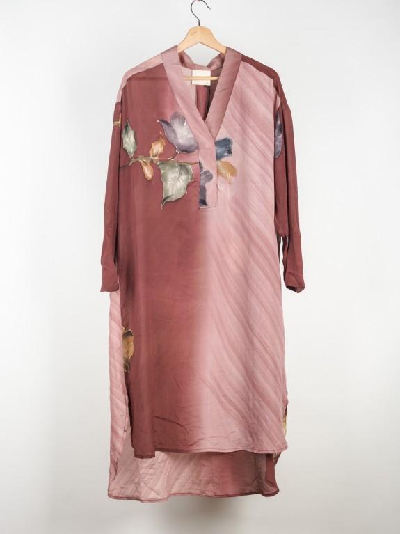 Vestido Caftan Fleur de Lis Silk Nº 1