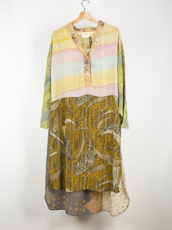 Caftan Dress Fleur de Lis Silk Nº 2