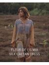 Vestido Caftan Fleur de Lis Silk Nº 2