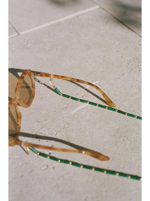 Cadena para gafas Mara Malaquita
