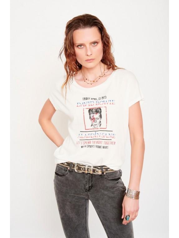 Camiseta Tasmani Bowie blanca