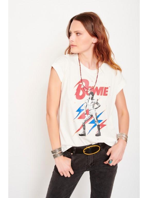 Camiseta Tulipe Bowie blanca