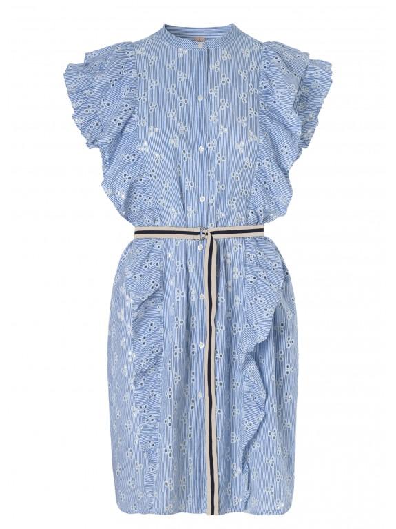 Vestido Anglaise Haley azul