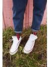 Calcetines Dean Check rojo