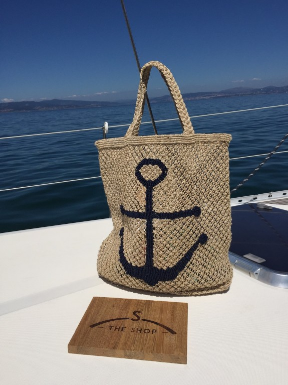 Bolso Ancla natural and blue
