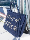 Bolso Out of Office azul y natural grande