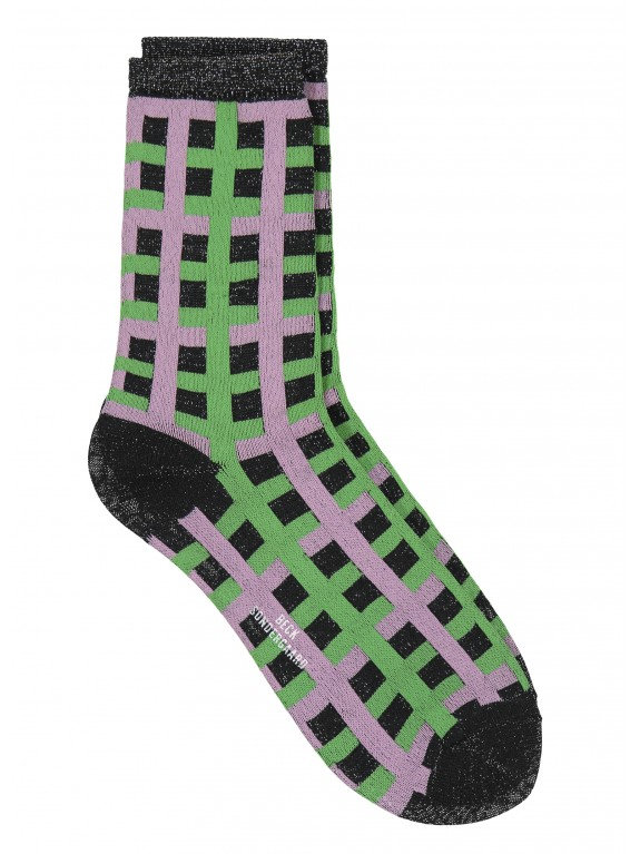 Calcetines Dean Check verde